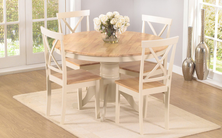 The Regarding Cream Dining Tables And Chairs (View 8 of 20)