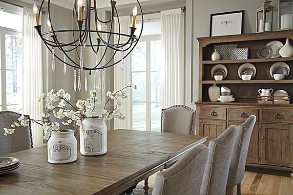 The Tanshire Dining Room Table From Ashley Furniture Homestore (Afhs With Regard To Newest Norwood 9 Piece Rectangular Extension Dining Sets With Uph Side Chairs (View 18 of 20)