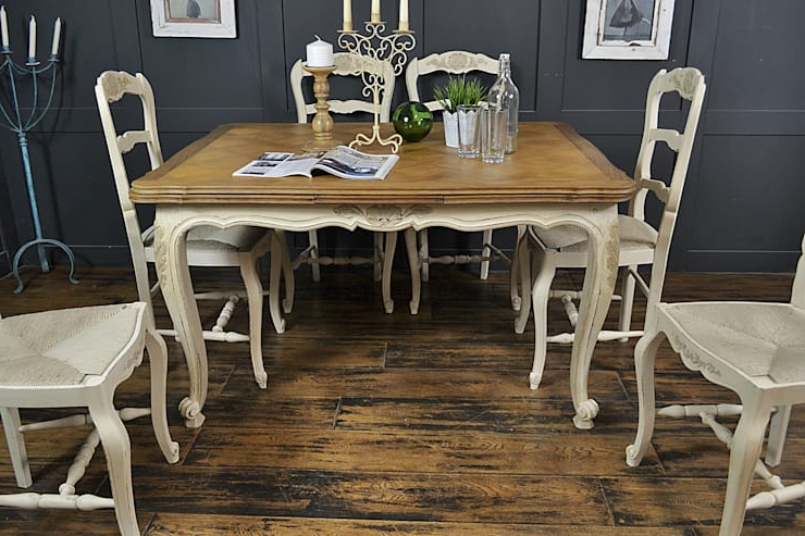 The Treasure Trove Shabby Chic & Vintage Furniture: 6 Seater Cream With Regard To Newest Shabby Chic Cream Dining Tables And Chairs (Gallery 11 of 20)
