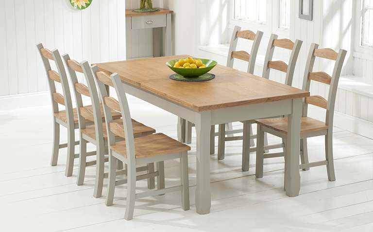 The With Most Up To Date Oak Dining Tables Sets (View 6 of 20)