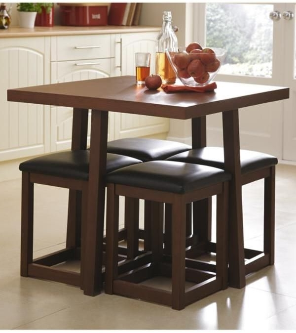 Thornton Compact Dining Table + 4 Stools On Shopstyle.co (View 15 of 20)