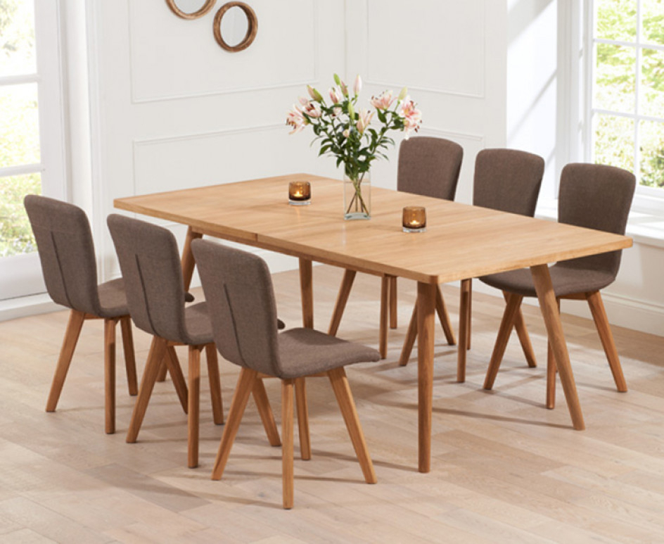 Tivoli 150cm Retro Oak Extending Dining Table And Chairs (View 18 of 20)