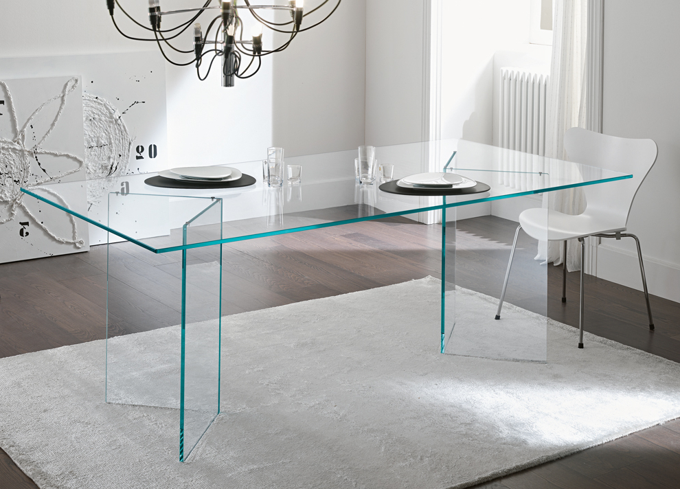 Tonelli Bacco Glass Dining Table – Modern Glass Dining Tables Throughout Latest Glass Dining Tables (View 15 of 20)