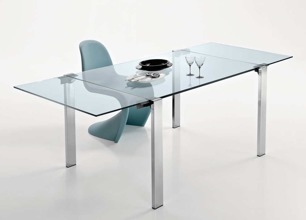 Tonelli Livingstone Extending Glass Dining Table – Extending Glass With Preferred Glass Extending Dining Tables (View 15 of 20)