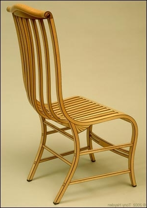 Tony Hayden Furniture And Design, Bent Laminated Side Chairs, Based Pertaining To Current Hayden Ii Black Side Chairs (View 17 of 20)