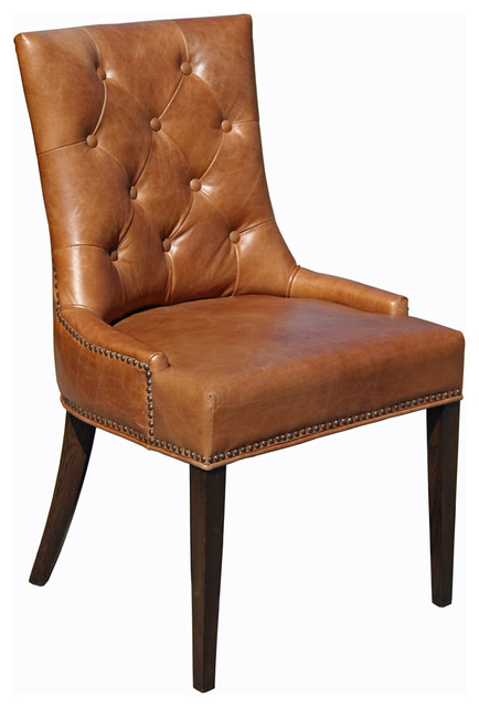 Top Grain Leather Dining Chair – Traditional – Dining Chairs – With Regard To Well Known Leather Dining Chairs (View 18 of 20)