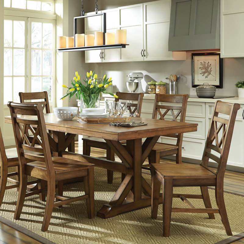 Toscana Dining Tables Within Most Up To Date Canyon Dining Table And Double X Back Chair Set Free Shipping (View 8 of 20)