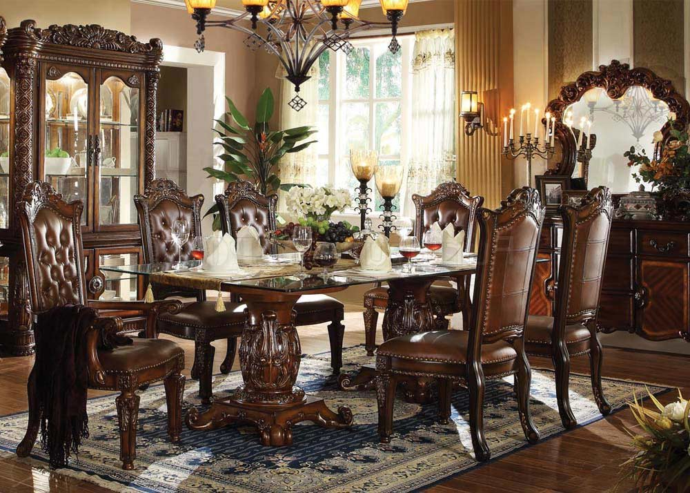 Traditional Dining Tables With Fashionable Traditional Dining Table Allesia Ac (View 6 of 20)
