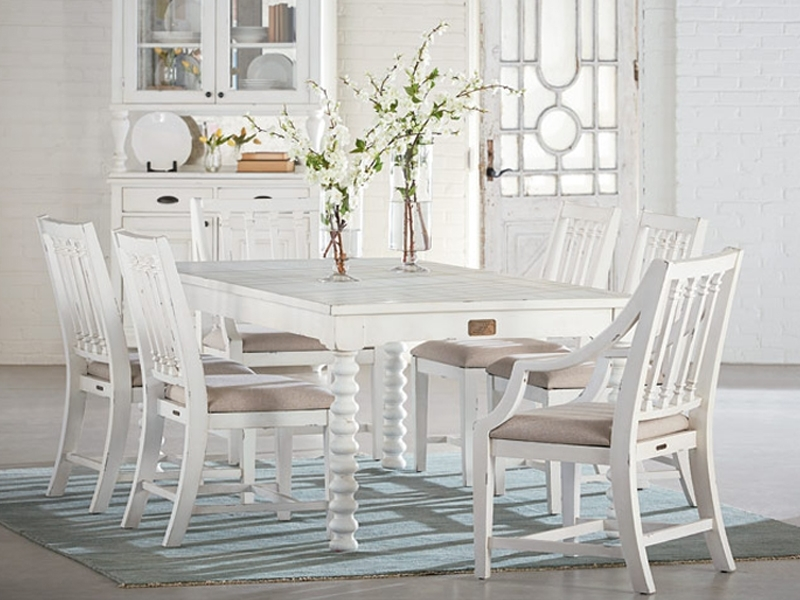 Traditional Spool Tablemagnolia Home Regarding Widely Used Magnolia Home Kempton Bench Side Chairs (View 15 of 20)