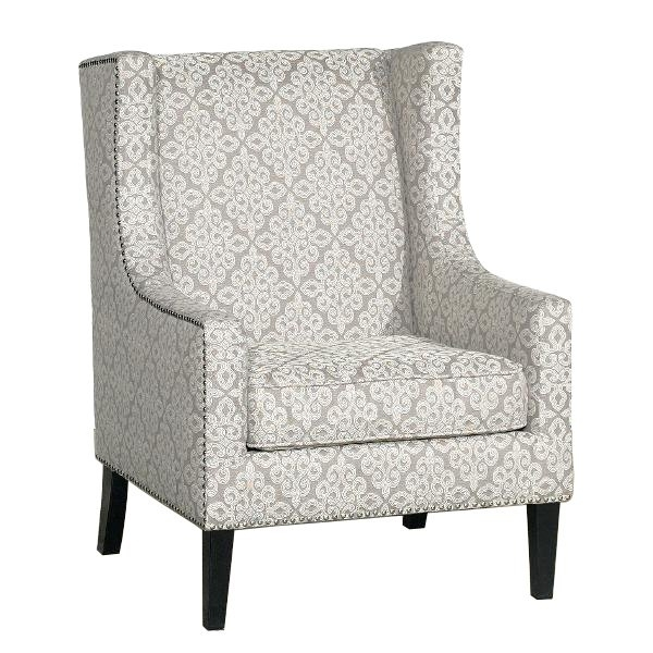 Traditional Tan Wingback Accent Chair – Biltmore (View 14 of 20)