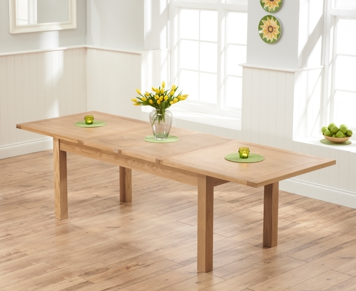 Trendy 180Cm Dining Tables Intended For Udine Solid Oak 180Cm 270Cm Extending Dining Table (View 19 of 20)