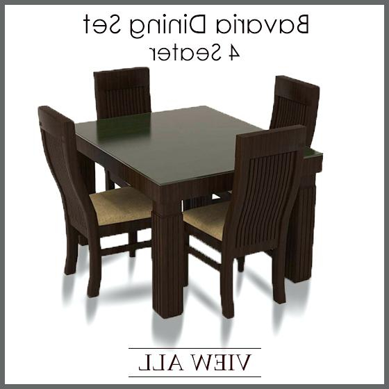 Trendy 4 Piece Dining Table Set – Ocane Pertaining To Small 4 Seater Dining Tables (View 18 of 20)