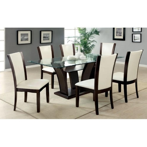 Trendy 6 Seat Dining Tables And Chairs Regarding Brown, White 6 Seater Modern Dining Table, Rs 20000 /set (View 16 of 20)