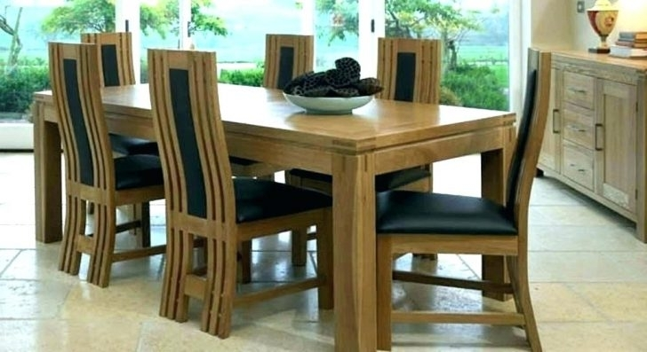 Trendy Adorable Solid Dining Set Wood Room Sets For Sale Hardwood Oak 6 Regarding Chunky Solid Oak Dining Tables And 6 Chairs (View 16 of 20)
