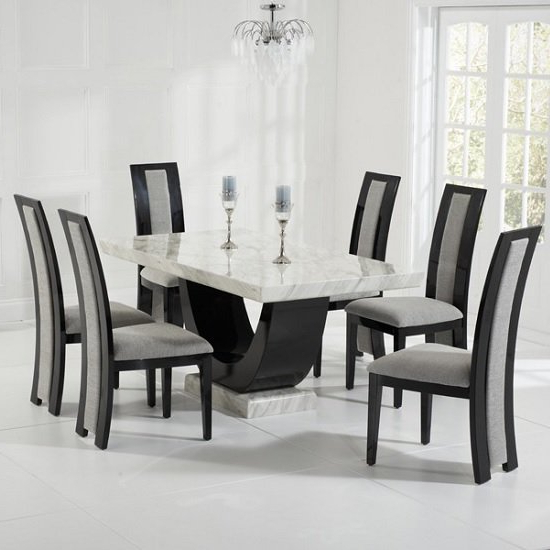 Featured Photo of Marble Dining Chairs