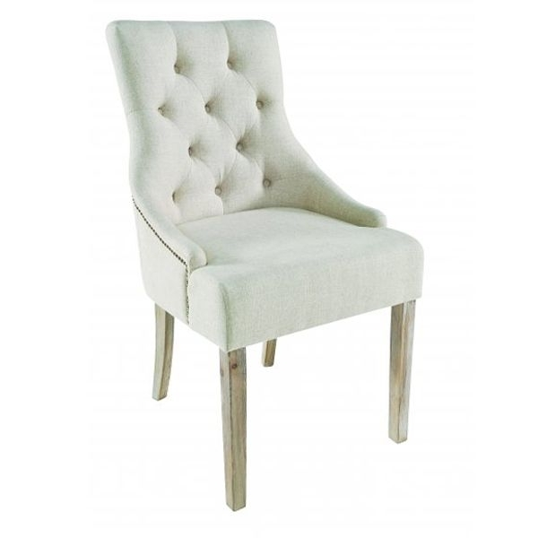 Trendy Amelia Button Back Dining Chair In Cream Fabric Designed And Made Within Button Back Dining Chairs (View 6 of 20)