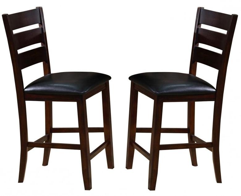 Trendy Bardstown Side Chairs Regarding Crown Mark Crown Mark Bardstown Counter Height Chair In Espresso (View 16 of 20)