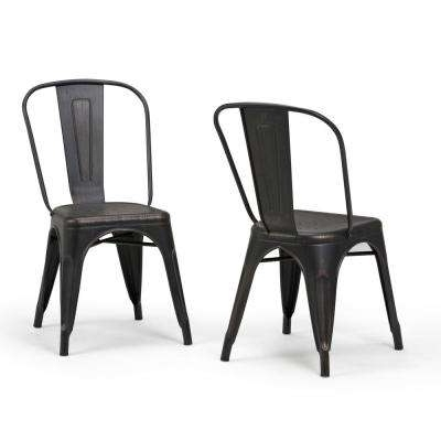 Trendy Black Dining Chairs Regarding Metal – Dining Chairs – Kitchen & Dining Room Furniture – The Home Depot (View 19 of 20)