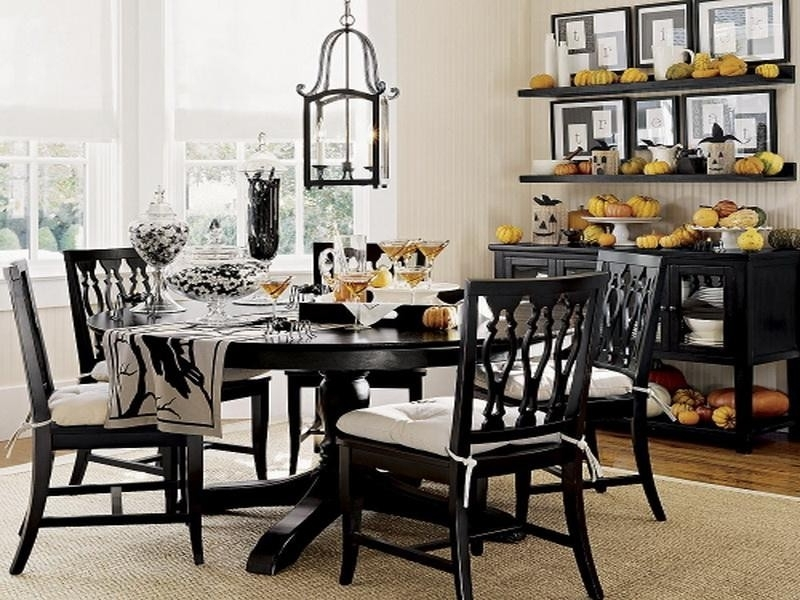Trendy Black Wood Dining Tables Sets In Dining Table Black Set And White — The Home Redesign : Elegant Black (View 18 of 20)