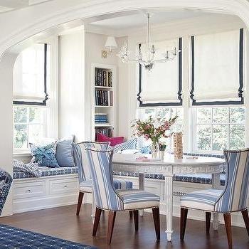 Trendy Blue Stripe Dining Chairs Design Ideas In Blue Stripe Dining Chairs (View 4 of 20)