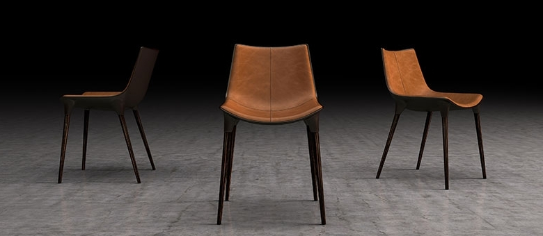 Trendy Brown Leather Dining Chairs With Modloft Modern Furniture, Dining Chairs (View 20 of 20)