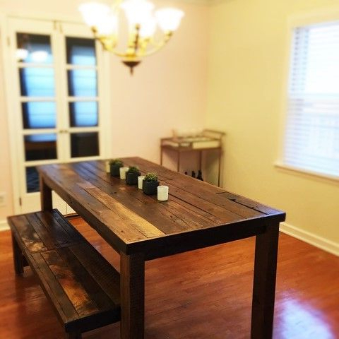 Trendy Buy A Custom Barnwood, Dining Set, Dining Table And 2 Benches With Regard To Dining Tables And 2 Benches (Gallery 11 of 20)