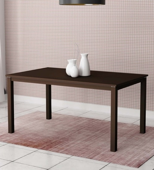 Trendy Buy Beldon Six Seater Dining Table In Wenge Finishhometown Within Buy Dining Tables (View 19 of 20)