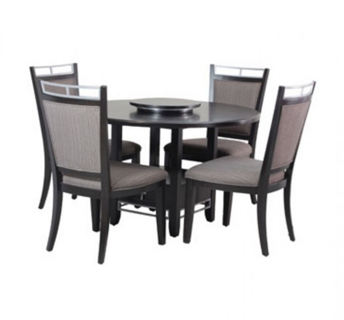 Trendy Caden 5 Piece Round Dining Sets With Upholstered Side Chairs Regarding Powell Caden 5 Piece Dining Set (View 10 of 20)