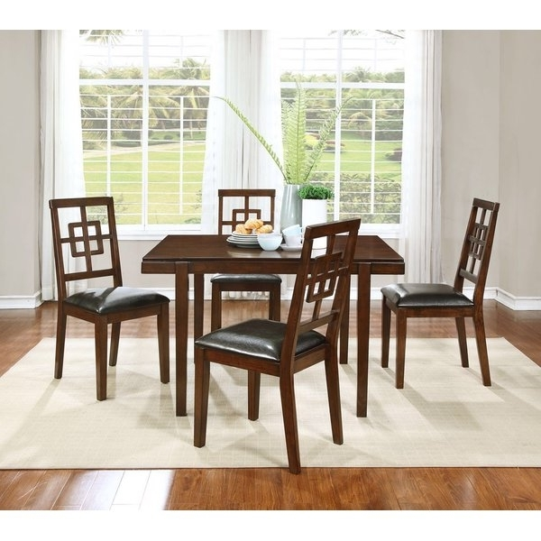 Trendy Candice Ii 7 Piece Extension Rectangular Dining Sets With Slat Back Side Chairs Intended For Boraam Cherry Dining Set (View 18 of 20)