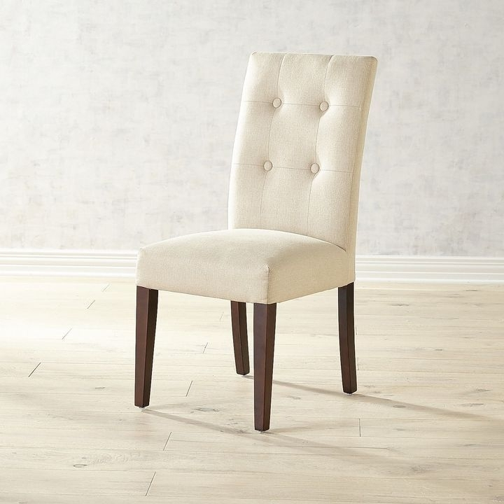 Trendy Chandler Fabric Side Chair For Combs 7 Piece Dining Sets With  Mindy Slipcovered Chairs (View 16 of 20)