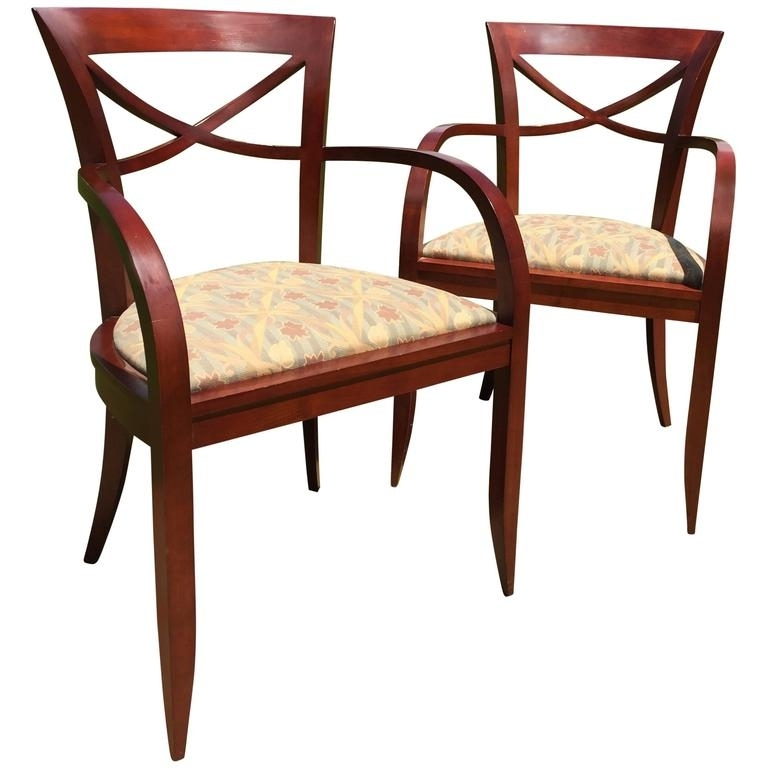 Trendy Clay Side Chairs In Pair Of Armchairsdavid Edward Made Of Cherrywood, Baltimore, Md (View 20 of 20)