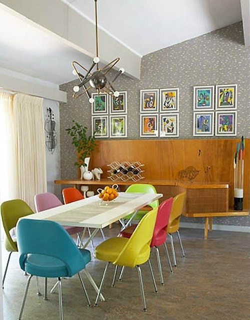 Trendy Colourful Dining Tables And Chairs Intended For  (View 17 of 20)