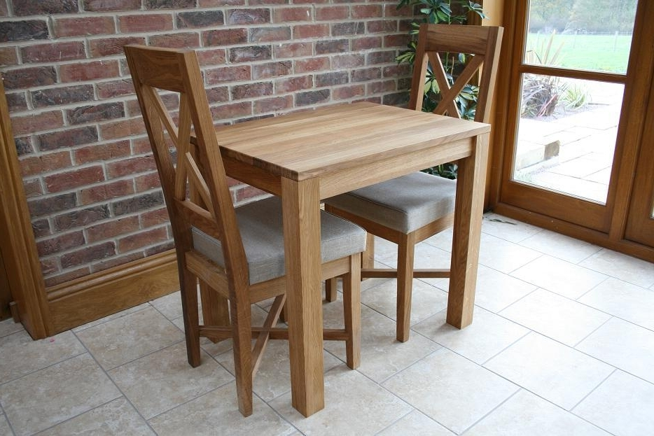 Trendy Compact Dining Sets With Small Dining Table Set For 2 – Castrophotos (View 15 of 20)
