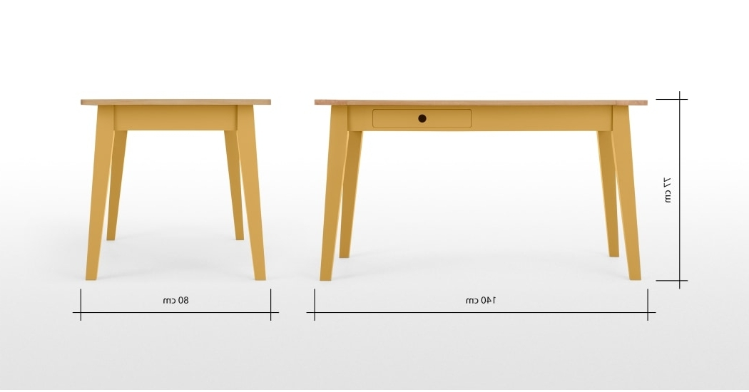Trendy Compact Dining Tables With Regard To Ralph Compact Dining Table, Mustard Yellow (View 17 of 20)