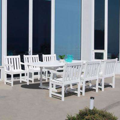 Trendy Craftsman 7 Piece Rectangle Extension Dining Sets With Uph Side Chairs For Oval – Patio Dining Sets – Patio Dining Furniture – The Home Depot (View 18 of 20)