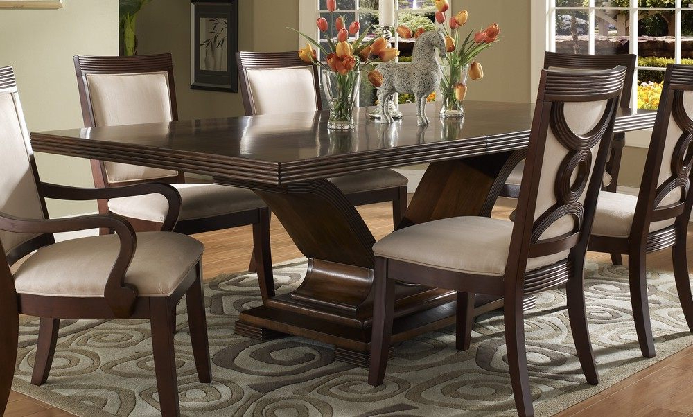 Trendy Dining Room Handcrafted Wooden Dining Tables Dark Wood Dining Table With Dark Dining Tables (View 18 of 20)