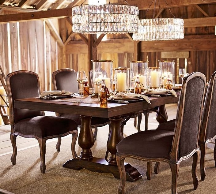 Trendy Dining Room Table Displays – Cheekybeaglestudios Within Artisanal Dining Tables (View 16 of 20)