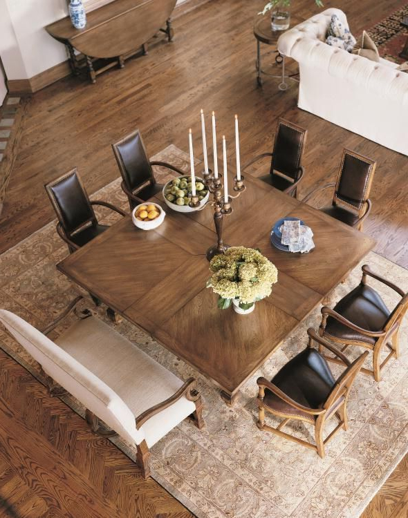 Trendy Dining Tables For Eight Throughout Square Table For Eight Century Classics Square To Square Dining (View 4 of 20)