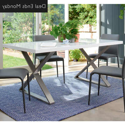 Trendy Dining Tables With White Legs Pertaining To Dining Tables (View 19 of 20)