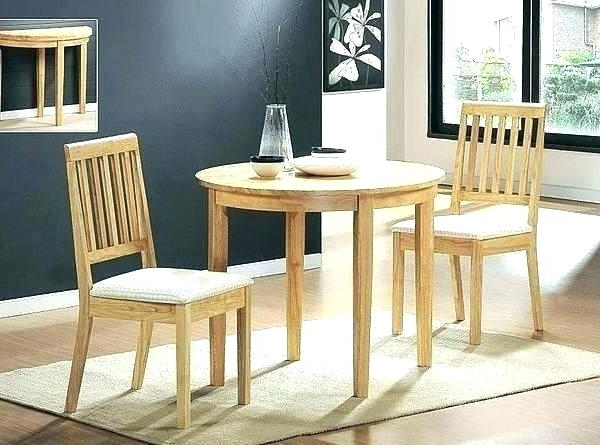 Trendy Dinner Table With Leaf Pictured Butterfly Leaf Dining Table Dining Intended For Small Round Dining Table With 4 Chairs (View 15 of 20)