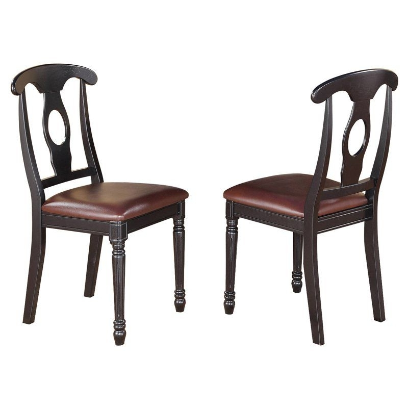 Trendy East West Furniture Kenley Napoleon Dining Chair With Faux Leather Pertaining To Chapleau Ii Side Chairs (View 18 of 20)