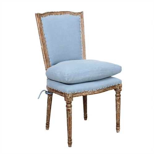 Trendy Ethan Dining Chair – Dusty Blue, Cloud Pink Pertaining To Dining Chairs With Blue Loose Seat (View 6 of 20)