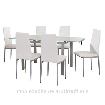 Trendy Extendable Glass Dining Tables And 6 Chairs Within Luxury Dining Table Set Extendable Glass Dining Table And 6 Chairs (Gallery 18 of 20)