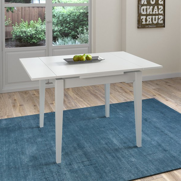 Trendy Extendable Square Dining Tables Pertaining To Shop Corliving White Extendable Square Dining Table – Free Shipping (View 9 of 20)