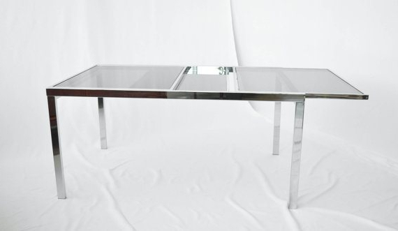 Trendy Extending Glass Dining Tables In Extending Glass Dining Tablemilo Baughman For Thayer Coggins (View 18 of 20)
