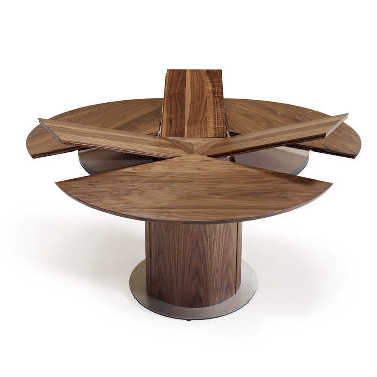Trendy Extending Round Dining Tables For Dining Tables: Interesting Small Round Extending Dining Table (View 15 of 20)
