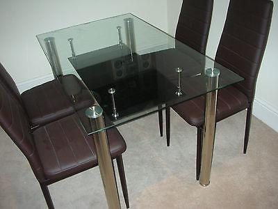 Trendy Glass Dining Tables 6 Chairs With Cool Ideas Glass Table And Leather Chairs Stunning Glass Black (View 20 of 20)