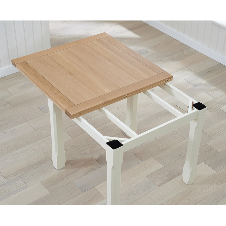 Trendy Great Offers On Sandringham Oak & Painted Range At Oak Furniture House For Flip Top Oak Dining Tables (View 18 of 20)