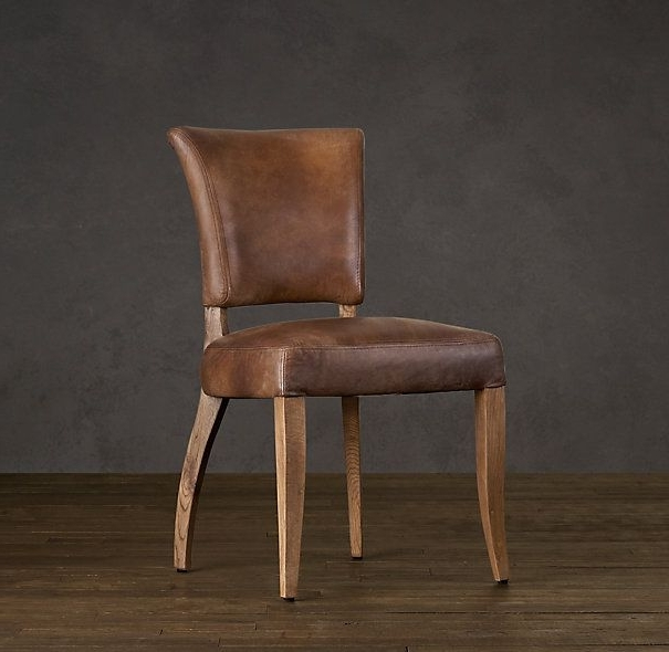Trendy I Think Leather Dining Chairs Might Be Interesting If The Table Was Throughout Burton Metal Side Chairs With Wooden Seat (View 15 of 20)