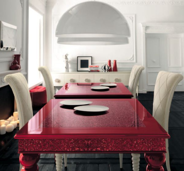 Trendy Interior Designs: Stunning High Gloss Red Dining Table Is An Instant Intended For Red Gloss Dining Tables (View 16 of 20)